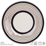 Jeu de dîner en céramique de cercle peint à la main de Brown