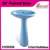 Salle de bain en porcelaine Bague simple en couleur Bassin classique pour lavage des cheveux