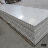 Feuille extérieure solide acrylique blanche de glacier pour le panneautage de mur