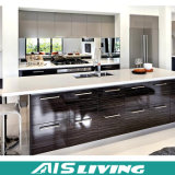 Gabinete de cozinha de madeira do armário do revestimento moderno do MDF (AIS-K228)