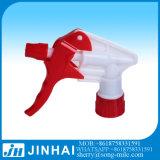 Pulverizador forte plástico vermelho e branco do disparador para o frasco plástico