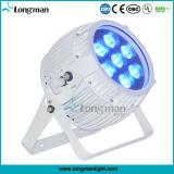 1つのDMXの無線段階の照明LED同価に付きRGBWA紫外線6つ