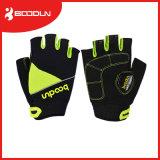 De cirkelende Handschoenen van de Sporten van de Fiets van Fingerless van de Vinger van het Stootkussen van het Gel van de Fiets van de Handschoen Halve