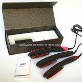 2016 Mais novo e mais quente Turmalina Cerâmica Elétrica 3D Controle Digital Escova Ionic Pele Escova de alisador de cabelo com display LCD