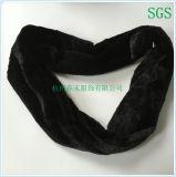 Jeune usine d'écharpe de tube d'ouatine de picovolte de collet de mode noire