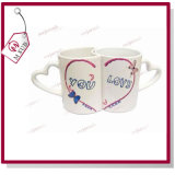11oz Wedding Foto Printed Sublimation Couple Mug in Pair