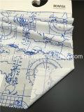 Законченный карта 100% поплина хлопка ткани белой напечатанная землей голубая