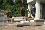 Mobilia di vimini esterna stabilita del sofà del rattan del giardino (MTC-134)