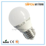 Luz de bulbo caliente de 3W A45 Dimmable LED con la base de tornillo E27