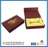 Rectángulo de empaquetado de papel plegable delicado de Jewellry de la cartulina