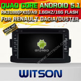 Auto DVD GPS des Witson Android-5.1 für Renault Dacia mit Chipset 1080P 16g Support des ROM-WiFi 3G Internet-DVR (A5787)