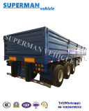 De 3 essieux en bois/de pieu transport de mine de cargaison remorque semi à vendre