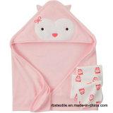 高品質とセットされる卸し売り昇進の赤ん坊のフード付きタオル
