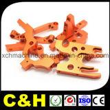 Части CNC алюминия черноты изготовления Китая красные желтые анодированные подвергая механической обработке