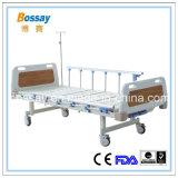Base medica di vendita della Cina di ospedale delle manovelle calde del letto due