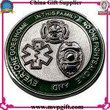 Bestellte Herausforderungs-Münze mit Firmenzeichen 3D voraus