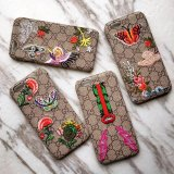 Brand luxuoso Embroidery Leather Caso para iPhone6