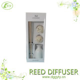 공장 Offer Mediterranean White Pure Color Simple Ceramic Reed Diffuser Oil 또는 Bottle Boxes Set