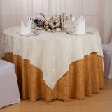 Guardanapo de linho do algodão luxuoso para o Tablecloth do restaurante do hotel (DPF107113)