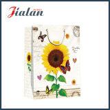 Großhandels4c druckte Sonnenblume-Entwurfs-Einkaufen-Träger-Geschenk-Papierbeutel
