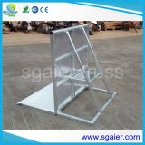 Chariot en aluminium de barrières, barrières de foule d'étape, barrières extérieures