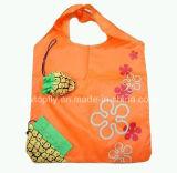 Aangepaste Polyester die het Winkelen van het Fruit Zak voor PromotieWeggevertje vouwen