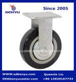 Rueda resistente del poliuretano del negro del echador del eslabón giratorio