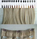Indiano Remy Hair Clips di 100% in Weft Hair Extensions con Lace