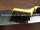 Cepillo de pulido del alambre de cobre amarillo plástico de la manija (YY-258)