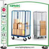 Carrello del carrello del contenitore della gabbia di Storarge del rullo del magazzino
