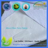 Micro tessuto impermeabile del panno di Terry della fibra per la protezione del materasso