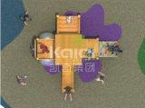 Kaiqi embroma el patio al aire libre de la choza de madera con la diapositiva (KQ60079A)