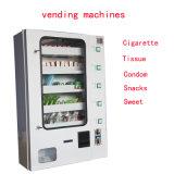 Venda quente máquina de Vending fixada na parede de Condom&Cigarette e de petisco