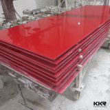 Kingkonree Red Color Solid Surface Sheet Material de construção