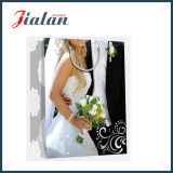 Glossy Laminated Art Paper Robe de mariée Shopping Gift Paper Bag