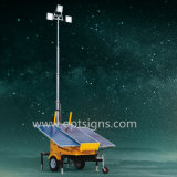 Green Energy hidráulico de elevación solar al aire libre Powered Mobile Light Tower