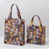 Beaux sacs de marée de configuration de chats de toile imperméable à l'eau bleu-foncé de PVC (CK003)