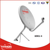 Mount Type Ku60cm Satellite Dish Antenna屋外、Groundまたはポーランド人またはWall