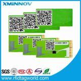 Etiqueta engomada de cobre inalterable frágil del parabrisas de la frecuencia ultraelevada RFID