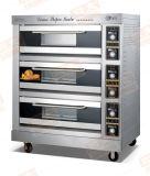 熱い販売! ! ! 焼ける電気ピザオーブンの単一か二重または3つか4つのデッキ