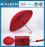 16k 25 polegadas de guarda-chuva vermelho do golfe da alta qualidade de FRP