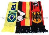 Акриловый сплетенный шарф футбола
