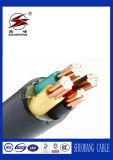 El cable de cobre de la potencia eléctrica del PVC con el PVC forró
