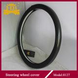 Coperchio del volante del cuoio della fibra del carbonio di lucentezza