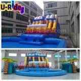巨大なおもちゃプールおよびスライドが付いている膨脹可能な水公園