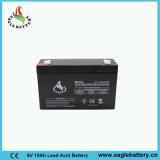 batteria al piombo ricaricabile di 6V 10ah VRLA per il sistema solare