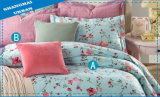 花の縞の寝具の一定の羽毛布団カバー