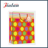 Glattes lamelliertes Kunstdruckpapier punktiert u. Stripes Einkaufen-Geschenk-Papierbeutel