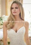 Morilee Mori Lee Lace Tulle cetim Spaghetti Strap sereia vestido de casamento (Dream-100042)