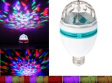 E27 Rotación LED Bulbo Bulbo Partido Multicolor Color Cristal Stage Disco Light
